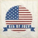 Autocollant ou étiquette américain de Jour de la Déclaration d'Indépendance Photos libres de droits