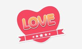 Autocollant ou label heureux de célébration de Saint-Valentin Images libres de droits