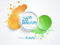 Autocollant ou label indien heureux de célébration de jour de République Photos libres de droits