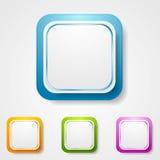 Autocollants carrés lumineux abstraits Photos libres de droits