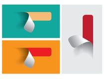 Autocollants colorés pour différentes options Image libre de droits