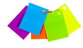 Autocollants colorés sur un fond d'isolement par blanc Image libre de droits