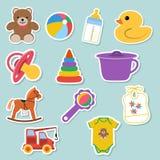 Autocollants d'icônes de bébé Photos stock
