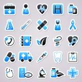 Autocollants de bleu de médecine illustration libre de droits