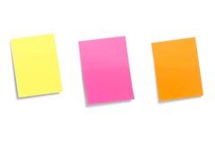 Autocollants de couleur d'isolement sur un fond blanc Images stock