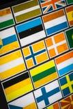 Autocollants de drapeau de pays Image libre de droits