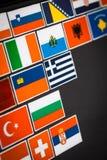 Autocollants de drapeau de pays Photographie stock