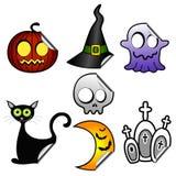 Autocollants de Halloween illustration de vecteur