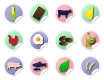 Autocollants de nourriture Photo stock