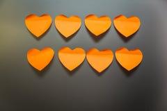 Autocollants de papeterie sous forme de coeurs Photo libre de droits