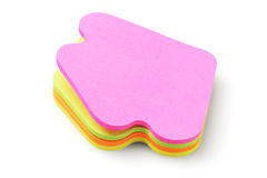 Autocollants de papier colorés Image stock