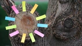 Autocollants de papier de souche d'arbre forestier personne longueur de hd clips vidéos