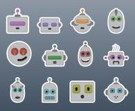 Autocollants de sourire de robot Photo stock