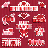 Autocollants de Valentine Photographie stock