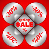 Autocollants de vente de ressort Photo stock
