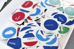 Autocollants de vote pour le web design Team Members Colleagues Photographie stock