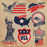 Autocollants des Etats-Unis Image stock