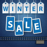 Autocollants des prix de vente d'hiver de jeans Image stock