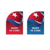 Autocollants fabriqués au Cuba Vecteur illustration de vecteur