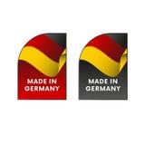 Autocollants fabriqués en Allemagne Vecteur illustration stock