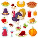 Autocollants pour le jour de thanksgiving Image stock