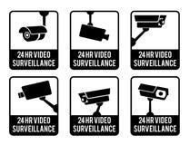 Autocollants réglés de avertissement Photos libres de droits
