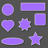 Autocollants violets avec la course blanche Images libres de droits