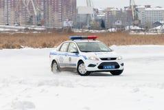 Autocompetities voor politiemannen Royalty-vrije Stock Afbeeldingen