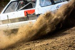 Autocross σε έναν σκονισμένο δρόμο Στοκ Εικόνα