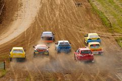 autocross Arkivfoto