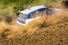 Autocross on a dusty road Royalty Free Stock Photos