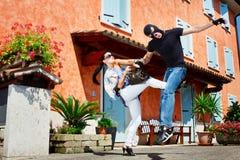 Autodéfense dans la rue Photographie stock