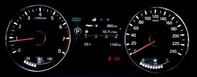Autodashboard, Cerato royalty-vrije stock fotografie