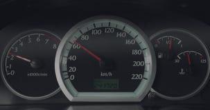 Autodashboard terwijl het drijven stock footage