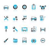 Autodeel en de dienstenpictogrammen Royalty-vrije Illustratie