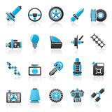 Autodeel en de dienstenpictogrammen 1 Stock Afbeelding