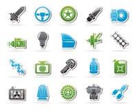 Autodeel en de dienstenpictogrammen 1 Stock Afbeeldingen