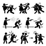 Autodefensa femenina de la muchacha de la mujer Foto de archivo libre de regalías
