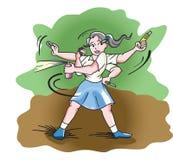 Autodefensa, ilustración Imagen de archivo