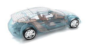 Autodesign, Drahtmodell Stockfotografie