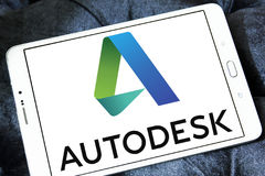 Autodesk-Firmenlogo Stockfoto