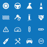 Autodie voor Web wordt geplaatst en mobiel pictogram Royalty-vrije Stock Foto's