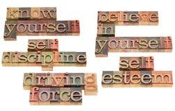 Autodisciplina y fuerza impulsora Imagen de archivo libre de regalías