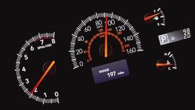 Autodockschnellfahren Konsole der elektronischen Navigation vektor abbildung
