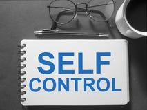 Autodominio, concepto de motivación de las citas de las palabras stock de ilustración