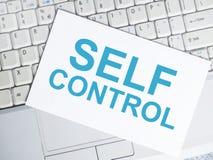 Autodominio, concepto de motivaci?n de las citas de las palabras stock de ilustración