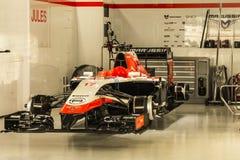 Autodrom de Sotchi, l'équipe Marrusia pour soutenir le cavalier d'accidents Photo stock