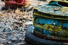 Autodrome i Pripyat Royaltyfria Bilder
