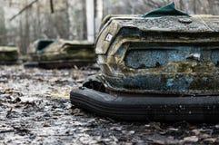 Autodrome i Pripyat Royaltyfri Foto
