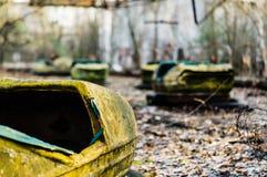 Autodrome i Pripyat Royaltyfri Bild